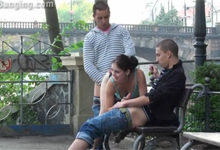 Mládežnícka trojka v centre Prahy