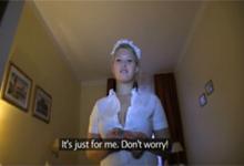 Český sex za peniaze s mladou hotelovou upratovačkou