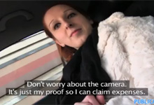 Public Agent fikne v aute českú študentku Zuzanu (HD porno)