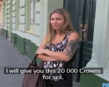 Český Public Agent Blondínka Cheryl podrží za 20 tis KČ! (HD porno)