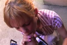 Český Public Agent a ohybná blondínka bez nohavičiek Albetza (HD porno)