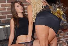 Lesbičky Molly Cavalli a Malena Morgan v akcii (HD porno)