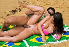 Brazílska pornohviezda Adryanna Duarte sa nechá jebať na pláži!