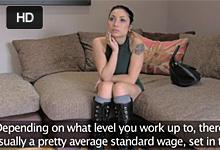 Britský FakeAgent na castingu osúloží študujúcu modelku z erotického chatu!