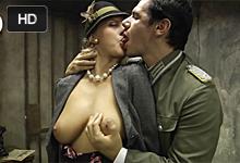 Sex za slobodu Členka domáceho odboja sa pri výsluchu podvolí dvom nemeckím dôstojníkom! – historické porno