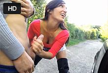 Francúzsky pár si natočí jeabačku v prírode s ejakuláciou na tvár